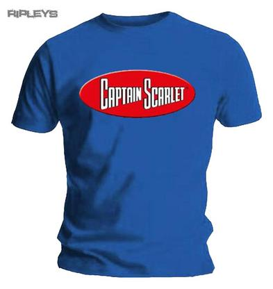 Official T Shirt CAPTAIN SCARLET Anderson Thunderbirds LOGO   All Sizes