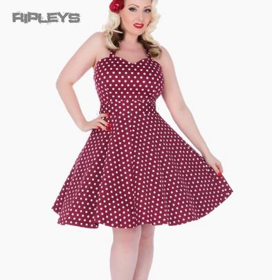 Dolly and Dotty PENNY Retro Dress Swing   Purple Polka Dot All Sizes Preview