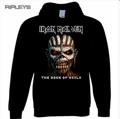 Official IRON MAIDEN Hoody/Hoodie BOOK of Souls Pullover All Sizes