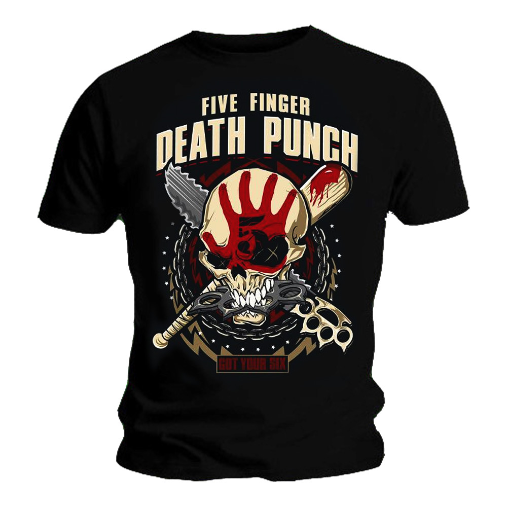 Official T Shirt FIVE FINGER DEATH PUNCH Zombie Killer All ...