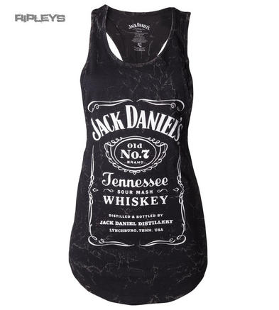 Official Skinny Tank Jack Daniels   Marble Acid Logo VEST Top All Sizes