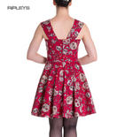 HELL BUNNY Mini Dress IDAHO Sugar Skulls Love Flowers   Red All Sizes Thumbnail 3