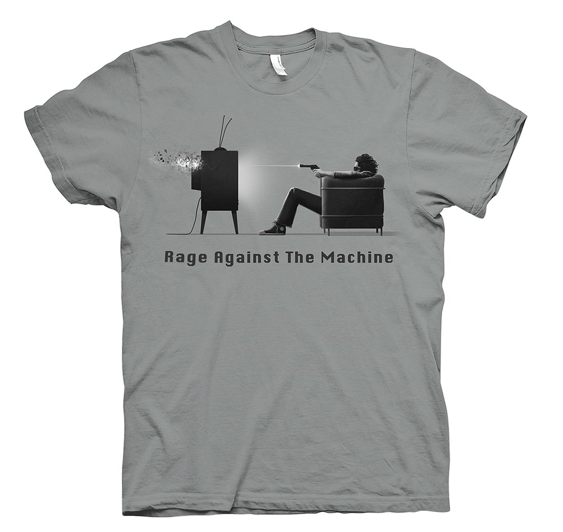 Official-T-Shirt-RAGE-AGAINST-THE-MACHINE-Grey-Won-039-t-Do-EXPLICIT-All-Sizes Indexbild 11