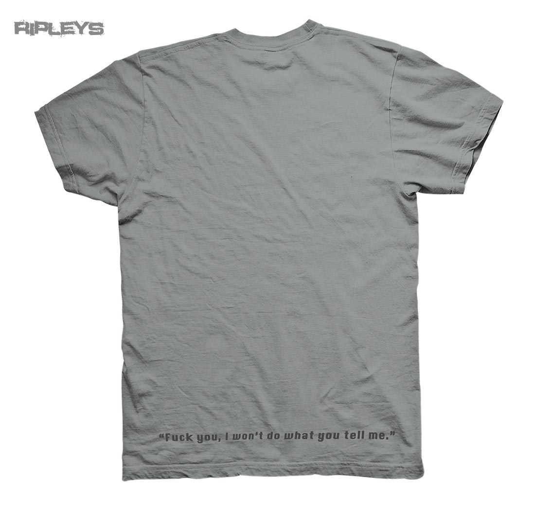 Official-T-Shirt-RAGE-AGAINST-THE-MACHINE-Grey-Won-039-t-Do-EXPLICIT-All-Sizes Indexbild 4