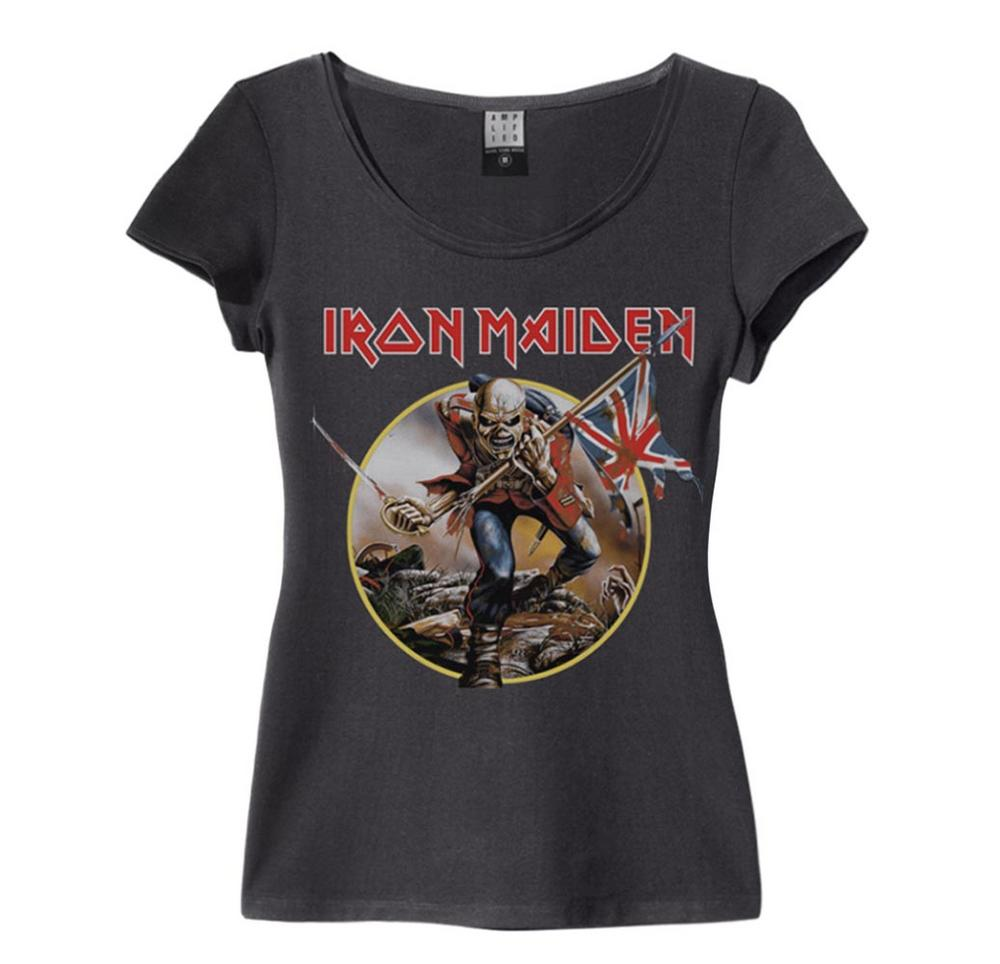 4567b079 Official Amplified Skinny T Shirt Iron Maiden TROOPER Vintage All Sizes