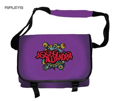 Official ASKING ALEXANDRIA Messenger Bag Logo SCHOOL   Eyeballs