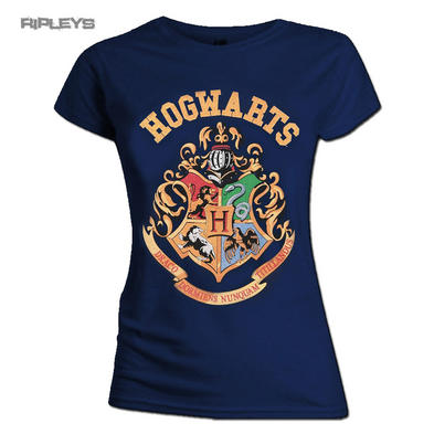 Official Skinny T Shirt Harry Potter Hogwarts   CREST Houses All Sizes