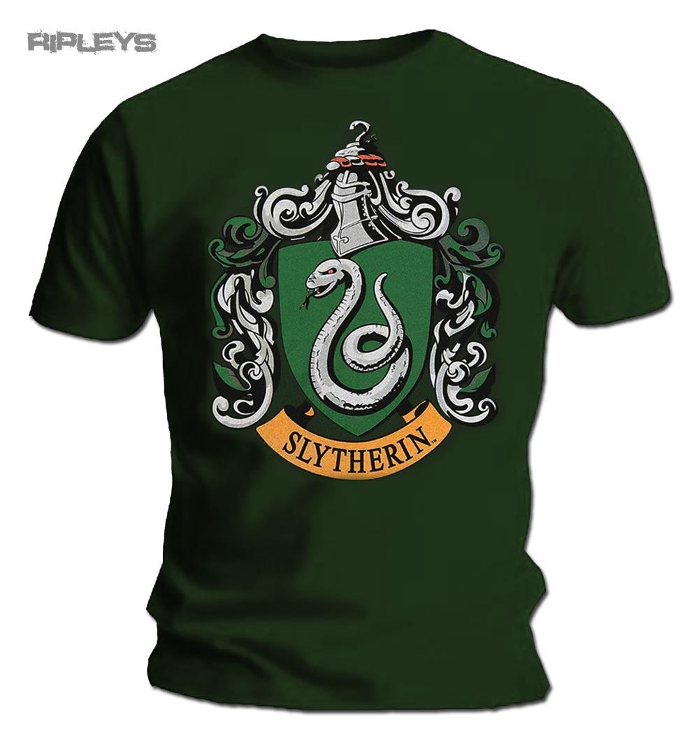 Official T Shirt Harry Potter Hogwarts SLYTHERIN House All ...