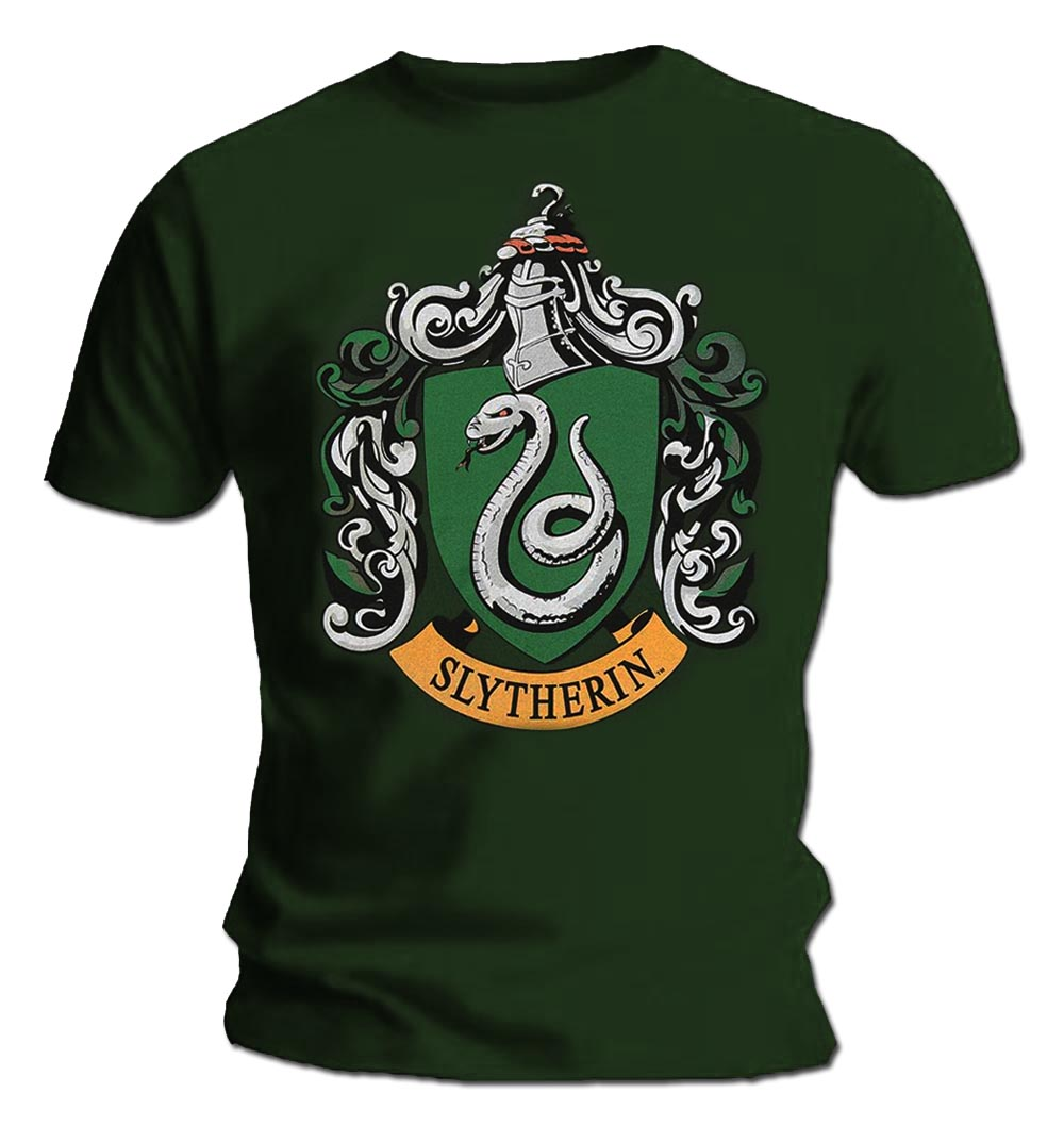 Official-T-Shirt-Harry-Potter-Hogwarts-SLYTHERIN-House-All-Sizes thumbnail 3