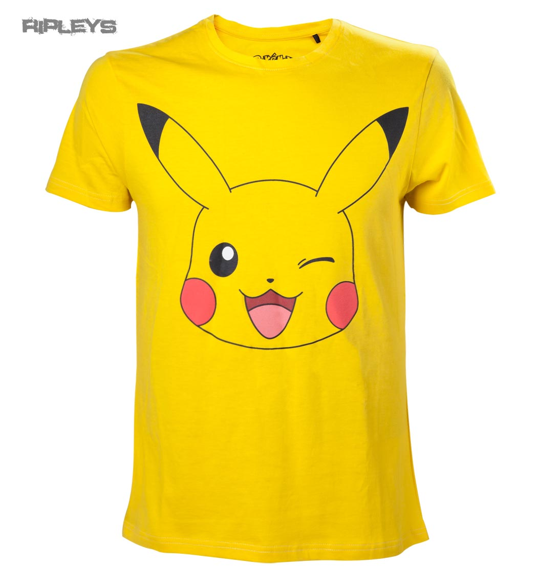 1d29d09bb Sentinel Official T Shirt POKEMON Yellow PIKACHU Face All Sizes