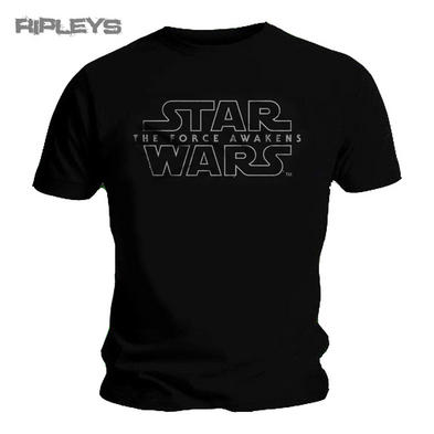 Official Unisex T Shirt STAR WARS VII   Force Awakens Logo #2 All Sizes
