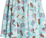 Hell Bunny   Summer SUKI 50s Dress Blue Flowers Skulls Tikis All Sizes Thumbnail 7