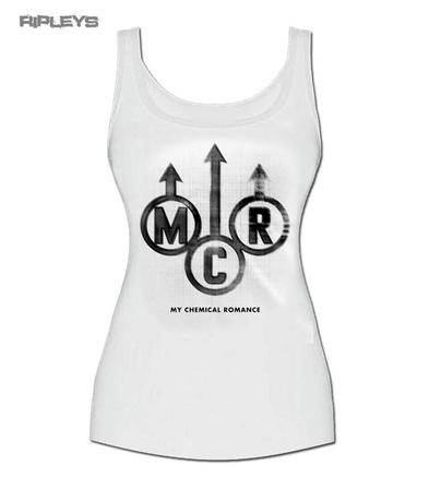 Official Skinny Vest Top My Chemical Romance   EMBLEM White All Sizes