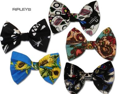 Ripleys Clothing Hair BOW Clip Tie 50s Fabric matches Hell Bunny Dress
