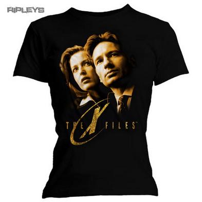 Official Skinny T Shirt THE X FILES Series TV   Gold Faces Photo All Sizes
