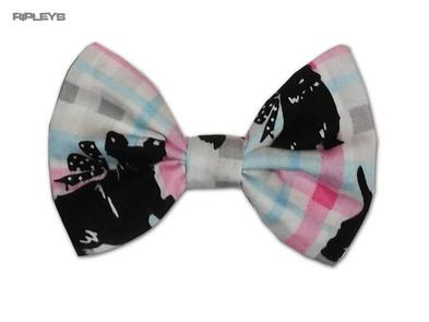 Ripleys Clothing Hair BOW Clip Tie 50s Fabric matches Hell Bunny Dress - Scottie