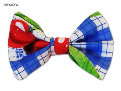 Ripleys Clothing Hair BOW Clip Tie 50s Fabric matches Hell Bunny Dress - August
