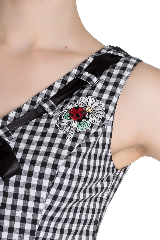 HELL-BUNNY-50s-Mini-Summer-Dress-LADYBIRD-Gingham-Vintage-All-Sizes thumbnail 26
