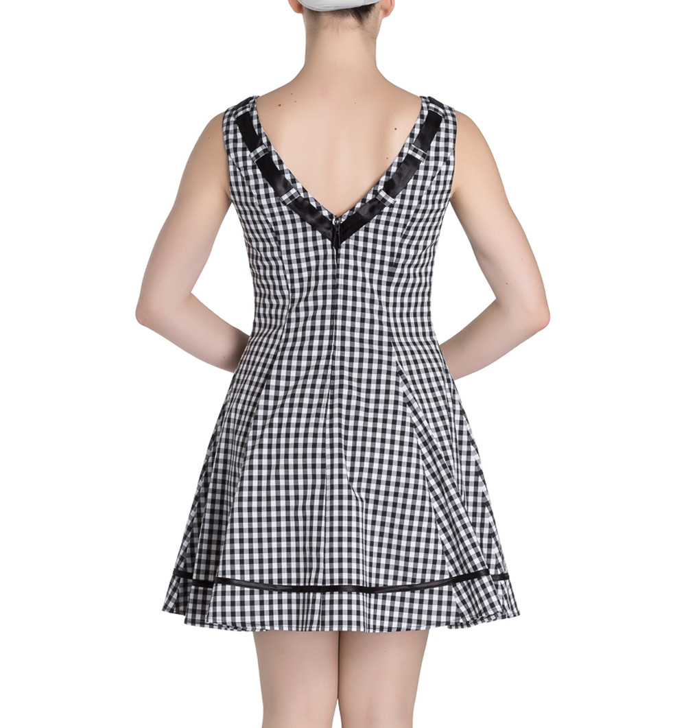 HELL-BUNNY-50s-Mini-Summer-Dress-LADYBIRD-Gingham-Vintage-All-Sizes thumbnail 20