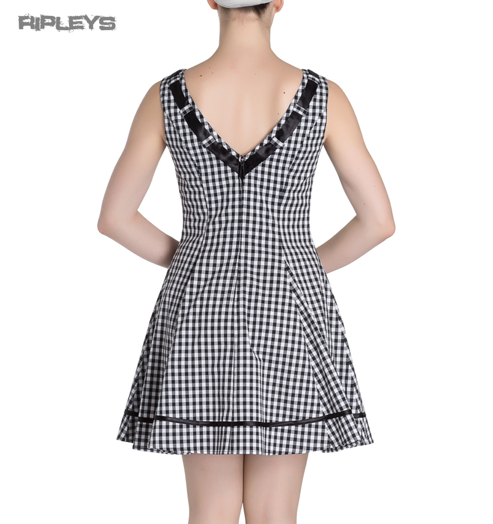 HELL-BUNNY-50s-Mini-Summer-Dress-LADYBIRD-Gingham-Vintage-All-Sizes thumbnail 19