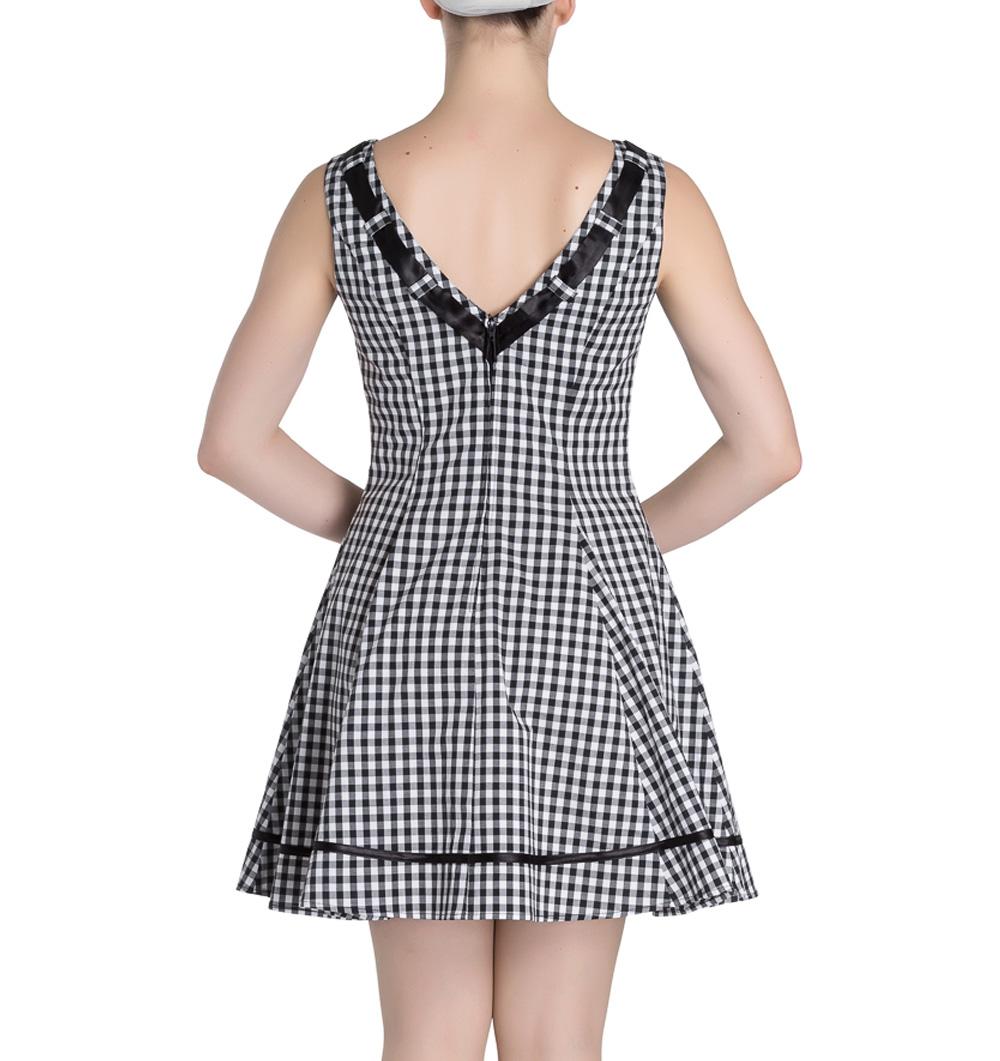 HELL-BUNNY-50s-Mini-Summer-Dress-LADYBIRD-Gingham-Vintage-All-Sizes thumbnail 5
