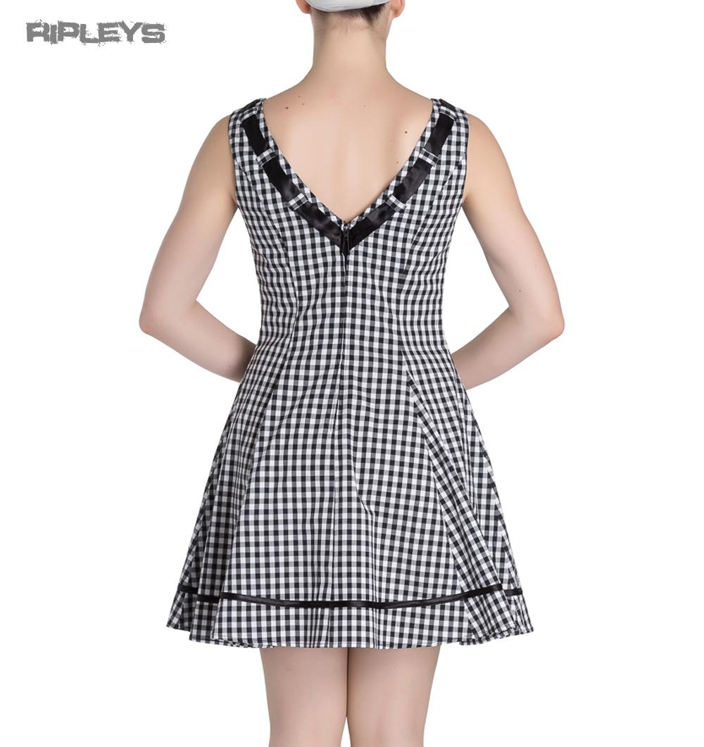 HELL-BUNNY-50s-Mini-Summer-Dress-LADYBIRD-Gingham-Vintage-All-Sizes thumbnail 4