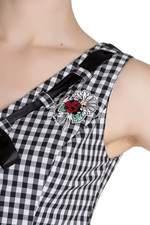 HELL-BUNNY-50s-Mini-Summer-Dress-LADYBIRD-Gingham-Vintage-All-Sizes thumbnail 11