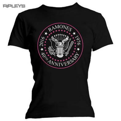 Official Skinny T Shirt RAMONES Punk  40th Anniversary Seal All Sizes