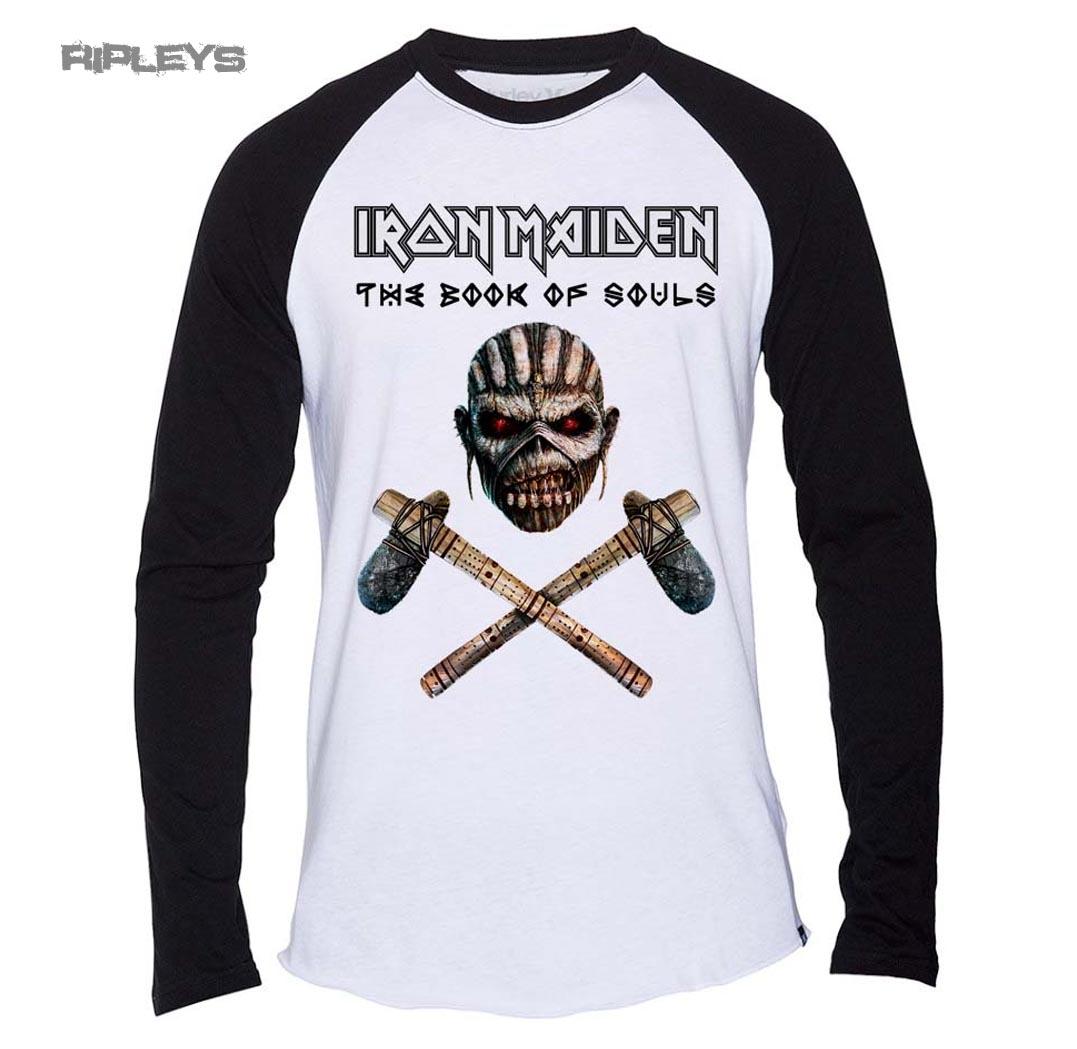 Official T Shirt IRON MAIDEN Axe Colour Raglan Baseball All Sizes | eBay
