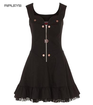 JAWBREAKER Black Grunge/Goth  STEAMPUNK Mini Dress All Sizes
