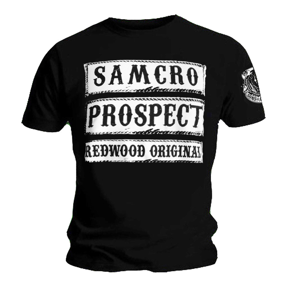 official t shirt sons of anarchy samcro prospect redwood. Black Bedroom Furniture Sets. Home Design Ideas