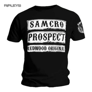 Official T Shirt SONS OF ANARCHY  Samcro Prospect Redwood Original All Sizes