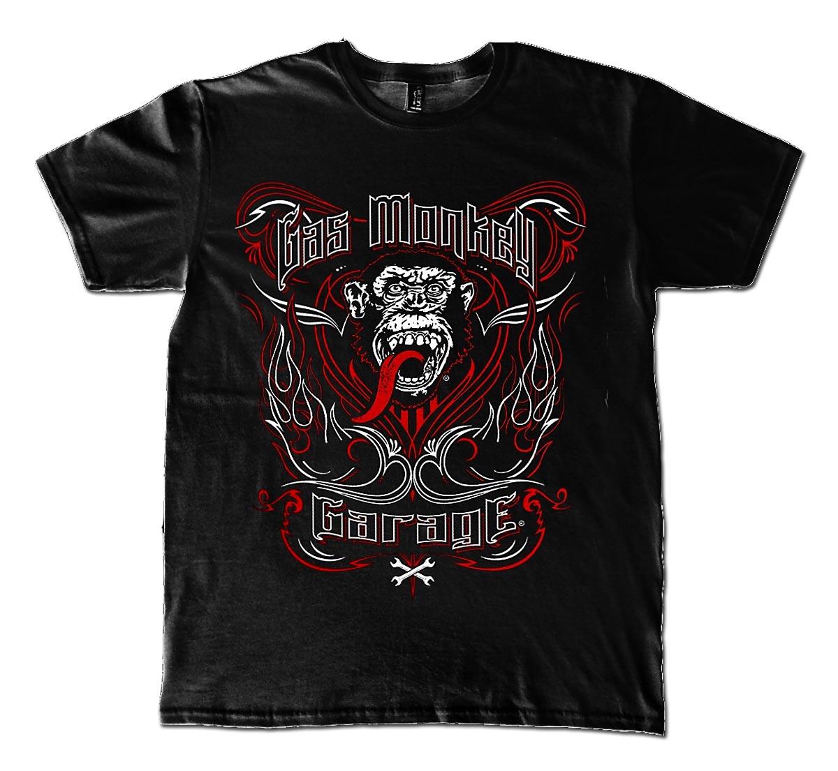 99233e8e023 official t shirt gas monkey garage gmg tattoo keyline all sizes