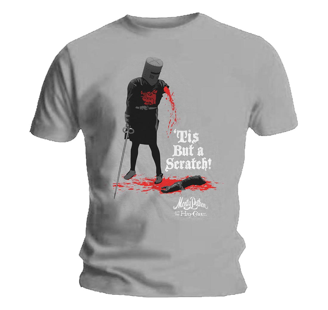 75c413df0 Sentinel Official T Shirt MONTY PYTHON & The Holy Grail Tis But A Scratch  All Sizes
