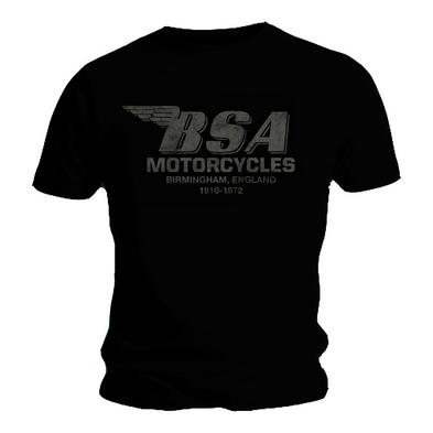 Official T Shirt BSA British Motorbike Black BIRMINGHAM Vintage All Sizes Preview
