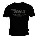 Official T Shirt BSA British Motorbike Black BIRMINGHAM Vintage All Sizes Thumbnail 1