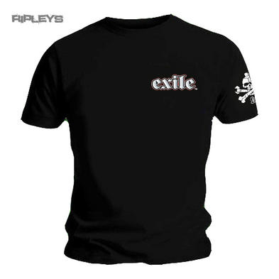 Official T Shirt EXILE CYCLES Custom Motorcycle Chopper OVAL Logo Black All Size