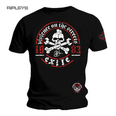 Official T Shirt EXILE CYCLES Custom Motorcycle Chopper VIOLENCE Black All Sizes