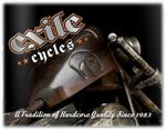 Official T Shirt EXILE CYCLES Custom Motorcycle Chopper VIOLENCE Black All Sizes Thumbnail 3