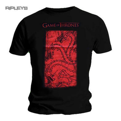 Official T Shirt Game of Thrones HUGE TARGARYEN House Red All Sizes