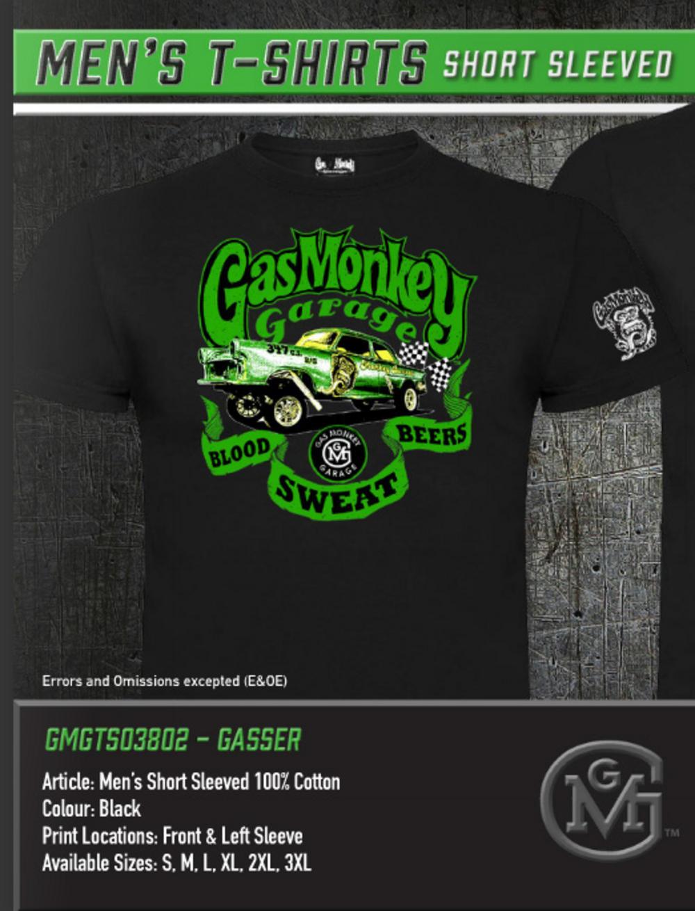 Christie Brimberry Gas Monkey Garage Wiki - Official gmg t shirt gas monkey garage green gasser blood sweat all sizes