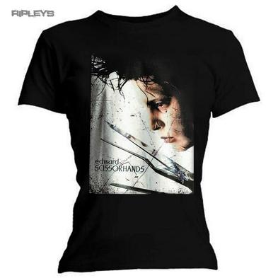 Official Skinny T Shirt Tim Burton EDWARD SCISSORHANDS Profile Poster All Sizes