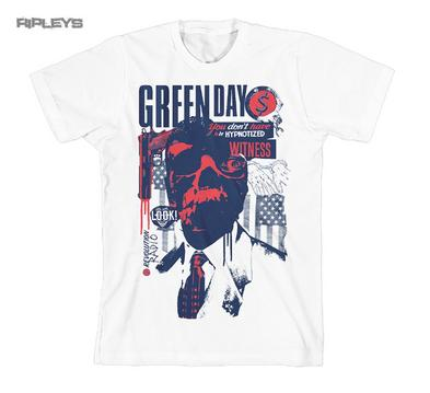 Official T Shirt GREEN DAY Revolution Radio Album PATRIOT White All Sizes