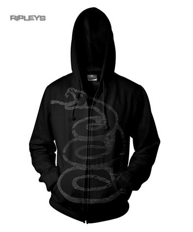 Official METALLICA Hoody Hoodie BURNISHED Snake Album Zip All Sizes