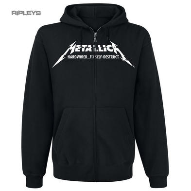 Official METALLICA Hoody Hoodie HARDWIRED Album Cover Zip All Sizes