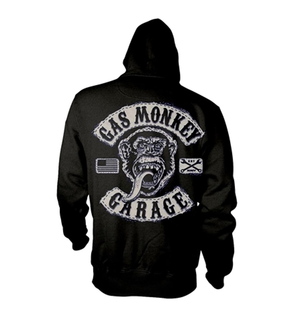 Official-PH-GAS-MONKEY-GARAGE-Hoody-Hoodie-Distressed-LOGO-Zip-All-Sizes thumbnail 5