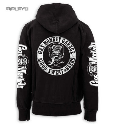 Official GMG Gas Monkey Garage Hoody Black/White BLOOD Sweat Beers All Sizes