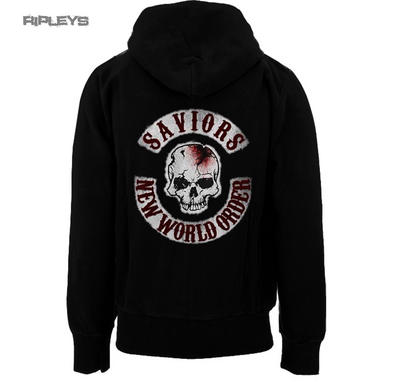 Official The Walking Dead Hoody Hoodie Negan New World Order SKULL Zip All Sizes