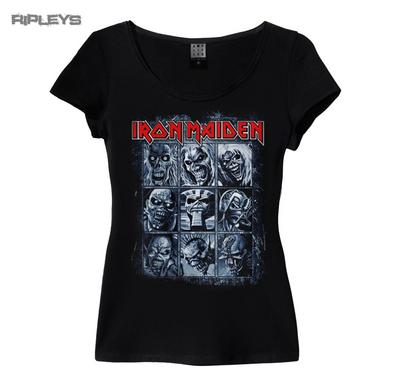Official Amplified Skinny Vintage T Shirt Iron Maiden NINE Eddies All Sizes