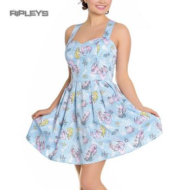 Hell Bunny Summer Mini Dress ANDRINA Mermaids Seahorse Blue All Sizes